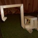 Mobilbagger Bastelideen für Schulkinder aus Holz