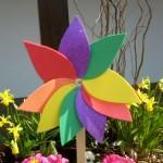 Blumenwindrad Bastelidee für KInder