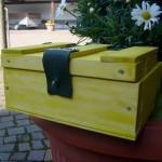 Schatzkiste aus Holz Bastelanleitung für Kinder Kisten Kästchen Boxen