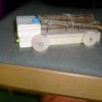 Holztransporter Bastelidee von Bettina Stadler