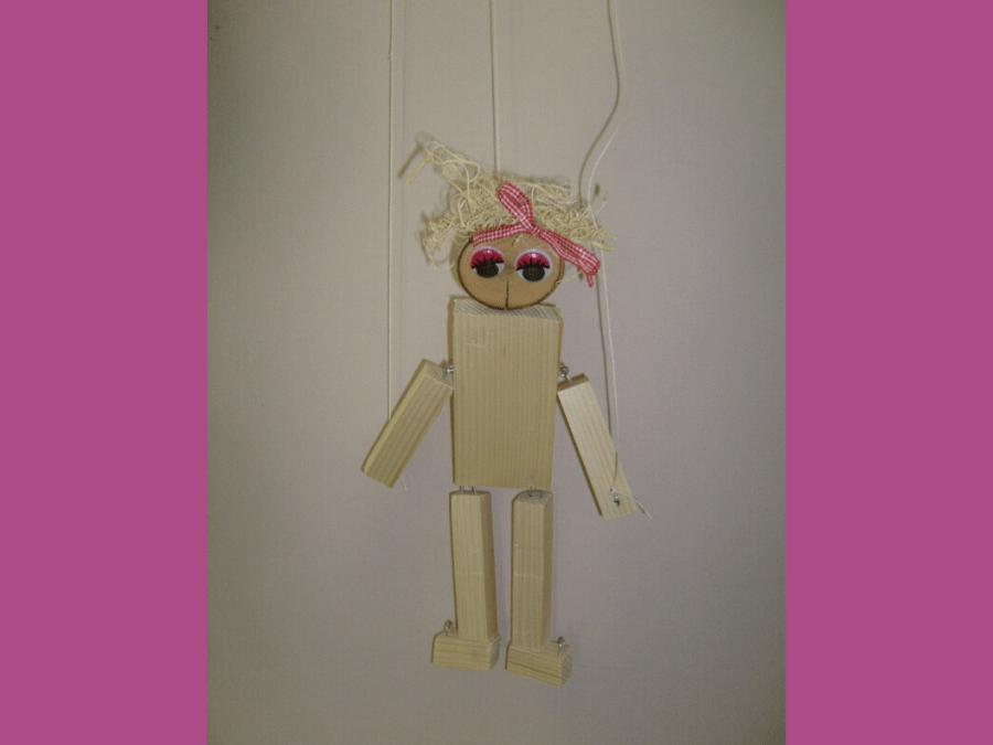 Marionette Bastelidee aus Holz