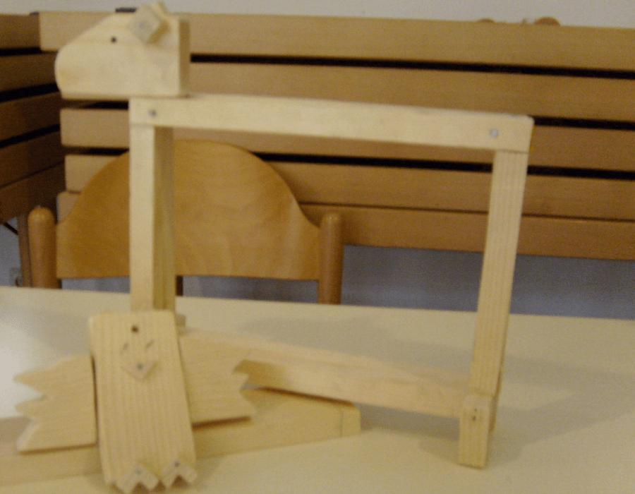 Holzwerkstatt Bilderrahmen in Hundeform