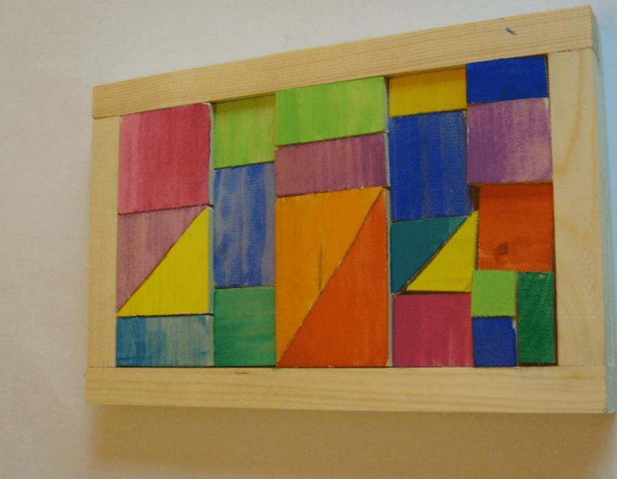 Puzzle im Holzrahmen
