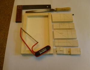 Material für Basteln mit Kindern Holz