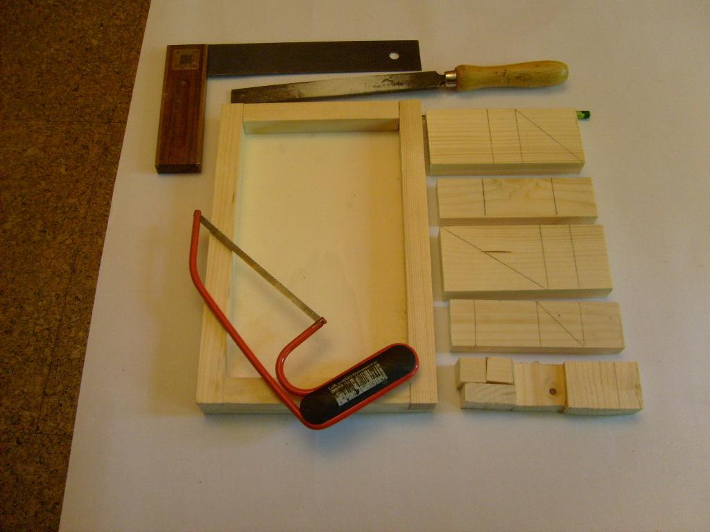 Puzzle im Holzrahmen Materialliste