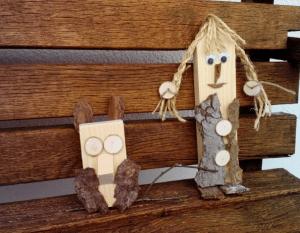 Kinder basteln mit Holz