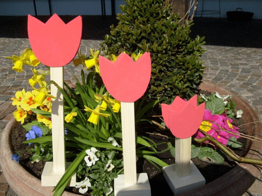 Tulpen aus Holz
