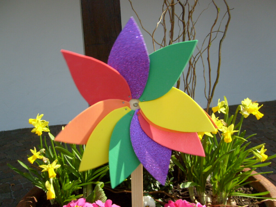 Blumenwindrad